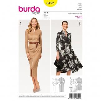 Burda Style - Patron Femme Robes Automne Hiver n° 6452 du 34 au 44