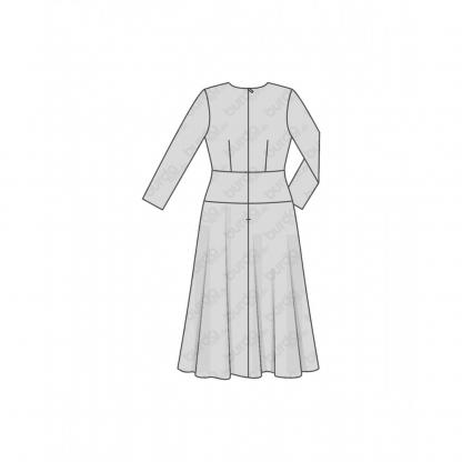 Burda Style - Patron Femme Robes Automne Hiver n°6454 du 34 au 44