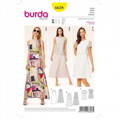 Burda Style - Patron Femme Robe d'été n°6628 du 34 au 44