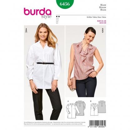 Burda Style – Patron Femme Blouse Col Droit n°6456 du 34 au 46