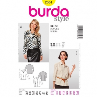 Burda Style – Patron Femme Blouse n° 2561 du 34 au 46
