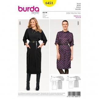Burda Style – Patron Femme Robe Automne Hiver n° 6451 du 34 au 44