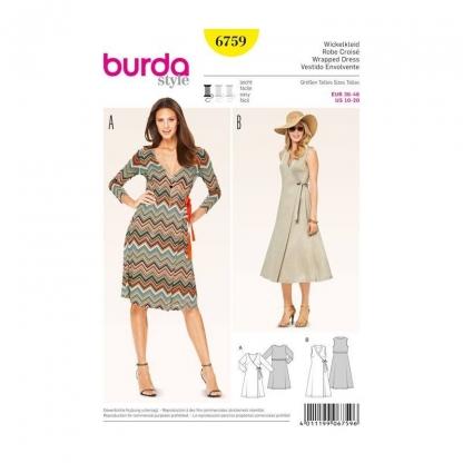 Burda Style – Patron Femme Robe Croisé n°6759 du 36 au 46