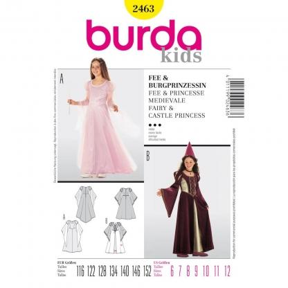 Burda Style - Patron Enfant Fée et Princesse Médiévale n°2463 du 116 au 152