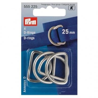 Prym - Boite 4 Anneaux D Coloris Argent (25 mm)