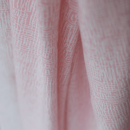 See You at Six - Tissu Popeline de Viscose Lines Rose