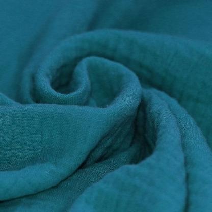 Tissu Double Gaze de Coton Uni Couleur Essence
