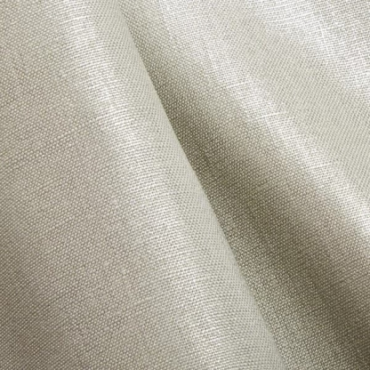 Tissu Enduit Pur Lin Uni Couleur Argent Métallisé