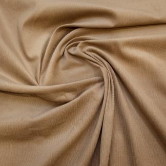 Tissu velours milleraies uni couleur beige