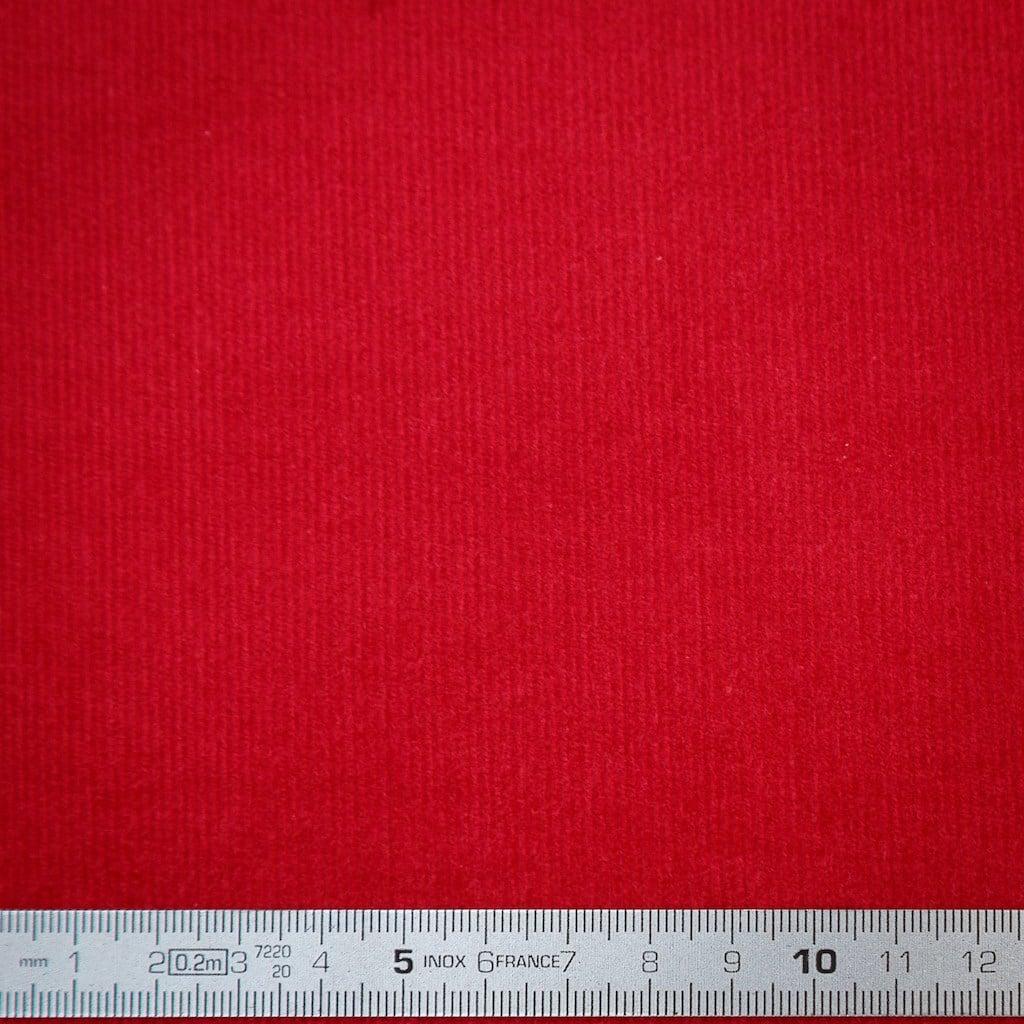 Couleur Framboise selection coup de coudre - tissu velours milleraies uni couleur