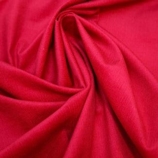 Tissu velours milleraies uni couleur framboise