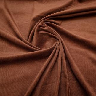 Tissu velours milleraies uni couleur marron