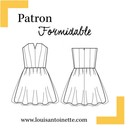 Louis Antoinette - Patron Robe Femme Formidable du 34 au 46