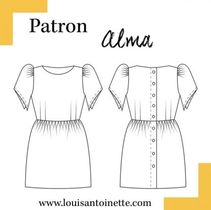 Louis Antoinette - Patron Robe Femme Alma du 34 au 46