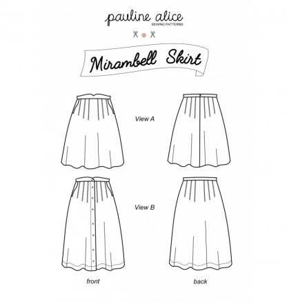 Pauline Alice - Patron Jupe Femme Mirambell du 34 au 48