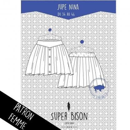 Super Bison - Patron Jupe Femme Nina du 34 au 46