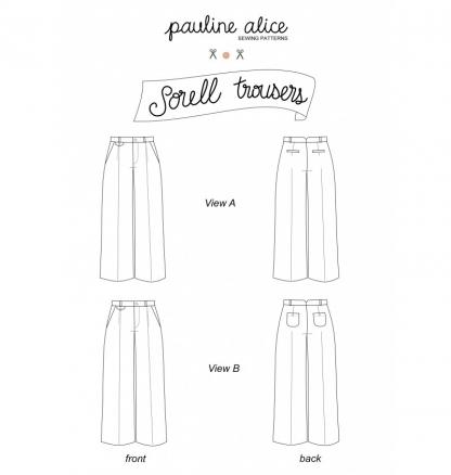 Pauline Alice - Patron Pantalon Femme Sorell du 34 au 48