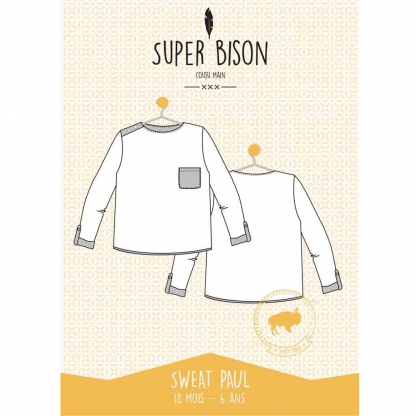 Super Bison - Patron Enfant Sweat Paul 6-12 ans