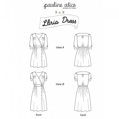 Pauline Alice - Patron Robe Femme Lliria du 34 au 48