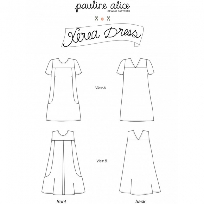 Pauline Alice - Patron Robe Femme Xerea du 34 au 48