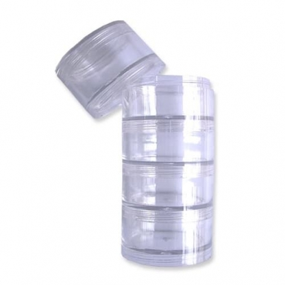 Bohin - Set 5 Boîtes Empilables Cylindriques (50 mm)