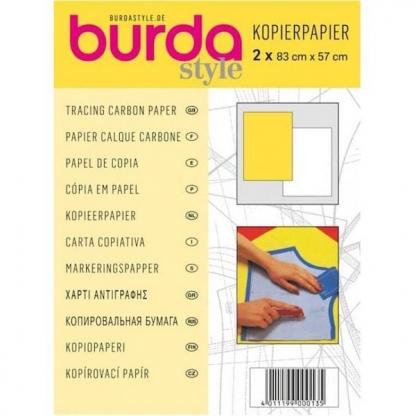 Burda Style - 2 Feuilles Papier Calque Carbone Coloris Jaune et Blanc