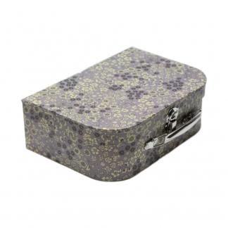 Frou-Frou Paris - Valisette Couture en Carton Fleuri Violet Sage