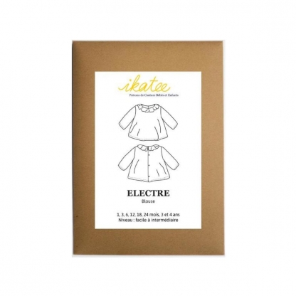 "Ikatee - Patron Enfant Blouse ""Electre"" 1 mois - 4 ans"