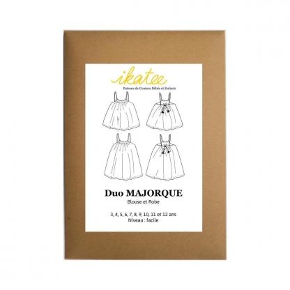 """Ikatee - Patron Enfant Duo Blouse et Robe """"Majorque"""" 3 - 12 ans"""