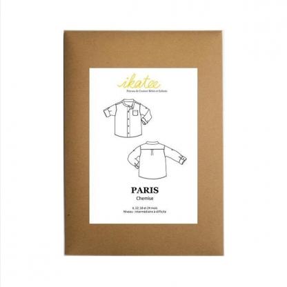 """Ikatee - Patron Enfant Chemise """"Paris"""" 6 - 24 mois"""