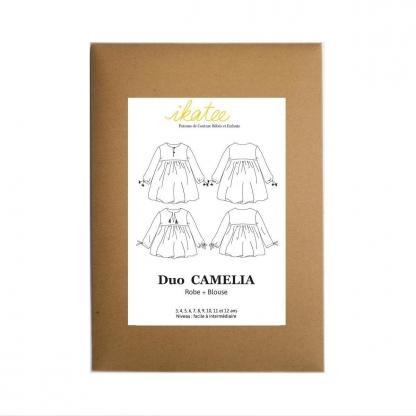 """Ikatee - Patron Enfant Duo Blouse et Robe """"Camelia"""" 3 - 12 ans"""