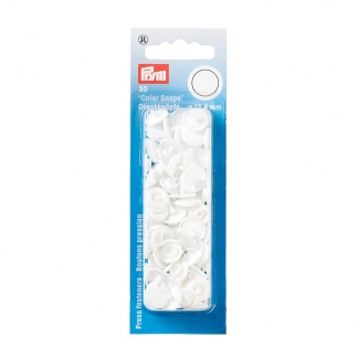 """Prym - Boite 30 Boutons Pression """"Color Snaps"""" Coloris Blanc (12,4 mm)"""