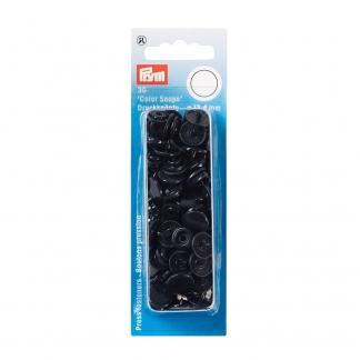 """Prym - Boite 30 Boutons Pression """"Color Snaps"""" Coloris Bleu Marine (12,4 mm)"""