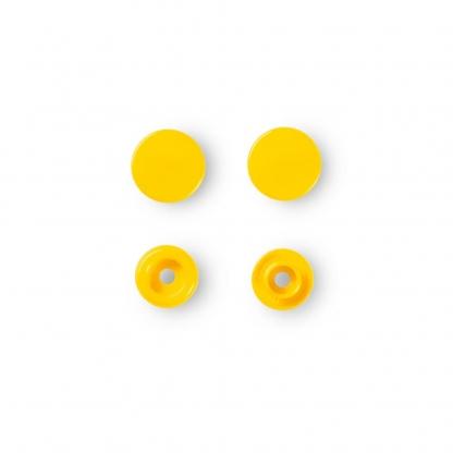 """Prym - Boite 30 Boutons Pression """"Color Snaps"""" Coloris Jaune (12,4 mm)"""