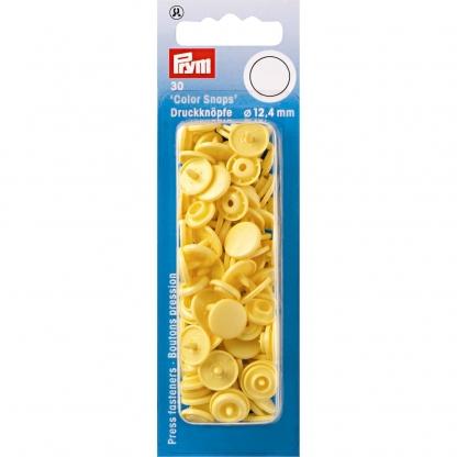 """Prym - Boite 30 Boutons Pression """"Color Snaps"""" Coloris Jaune Banane (12,4 mm)"""