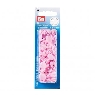 """Prym - Boite 30 Boutons Pression """"Color Snaps"""" Coloris Rose Pale (12,4 mm)"""