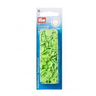 """Prym - Boite 30 Boutons Pression """"Color Snaps"""" Coloris Vert Pomme (12,4 mm)"""