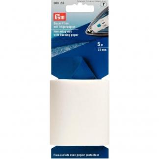 Prym - Fixe Ourlets avec Papier Protecteur (75 mm x 5 m)