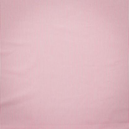 Tissu Popeline de Coton à Rayures Roses Tissé Teint