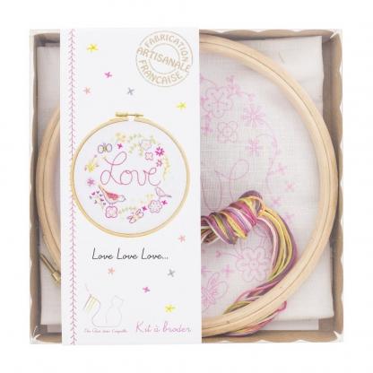 Un Chat dans l'aiguille - Kit à Broder Love Love Love