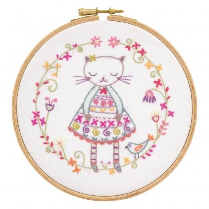 Un Chat dans l'aiguille - Kit à Broder Violette la Minette