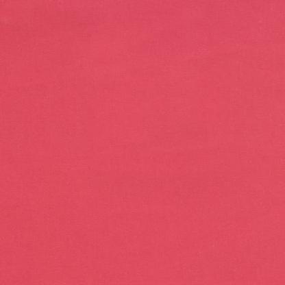 """C. Pauli - Tissu Gabardine de Coton Bio """"Holly Berry"""" Uni Couleur Rouge"""