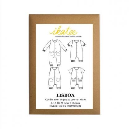 """Ikatee - Patron Enfant Combi """"Lisboa"""" 6 mois - 4 ans"""