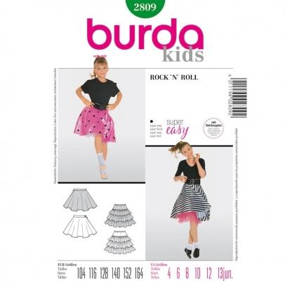 Burda Style - Patron Enfant Jupe Rock'n Roll n°2809 du 104 au 164