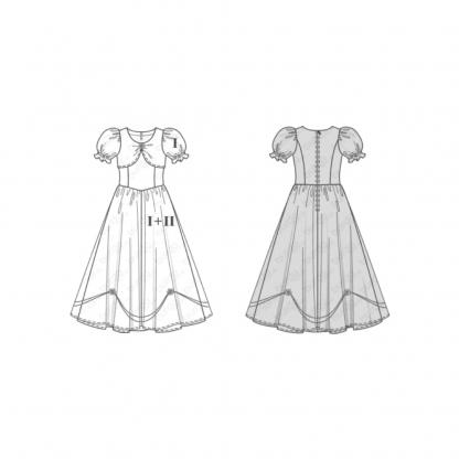 Burda Style - Patron Enfant Princesse et Blanche-Neige n°2480 du 104 au 134