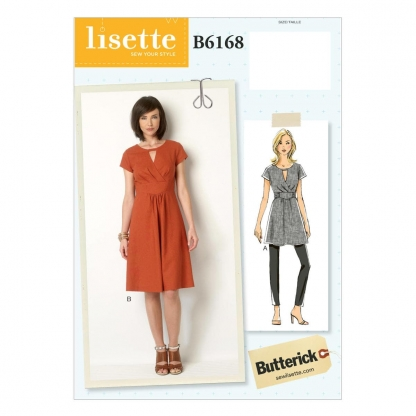 Butterick – Patron Femme Tunique et Robe B6168 du 34 au 50
