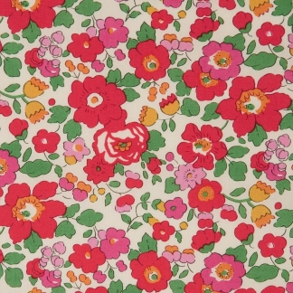 Liberty London - Tissu Betsy Tana Lawn Coton Rouge
