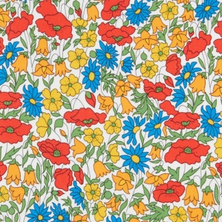 Liberty London - Tissu Poppy et Daisy Lawn Coton Jaune