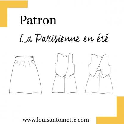 Louis Antoinette - Patron Robe Femme La Parisienne en Été du 34 au 46