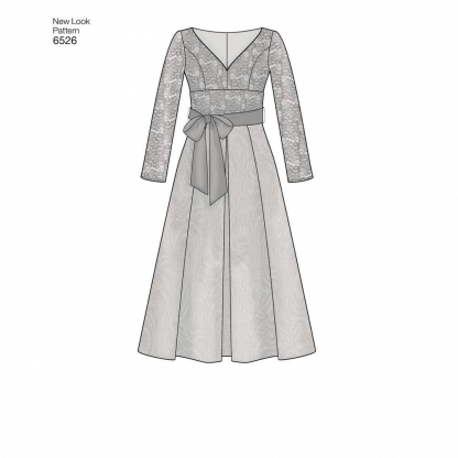 New Look – Patron Femme Robe n°6526 du 36 au 46